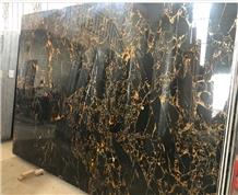 Chinese Portoro Marble Slabs