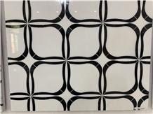 Turkey Marmara White Waterjet Marble Mosaics