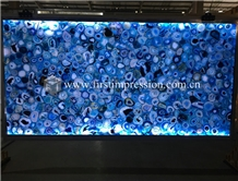 Blue Gemstone Semiprecious Blue Agate Slabs