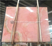 Cheap Pink Onyx Slabs,Tiles for Decoration
