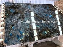 High Quality Labradorite Blue Granite Slabs,Tiles