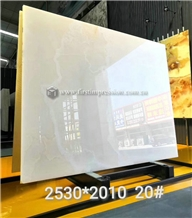 High Quality Pure White Onyx Slabs for Decoration