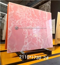 Hot Sale Pink Onyx Slabs,Tiles for Walling