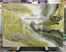 Luxury China Dreaming Green Marble Slabs,Tiles