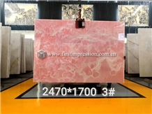 Luxury New Polished Pink Onyx Slabs,Tiles for Wall