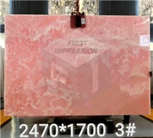 Luxury Pink Onyx Slabs,Tiles for Wall Covering