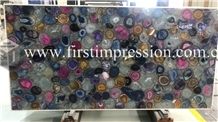 Multicolor Gemstone Semiprecious Agate Slabs