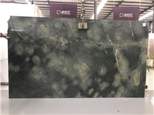 Dark Green Marble Jungle Big Slab Tiles
