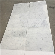 White Bianco Carrara Cd Marble Slab and Tiles