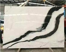China Panda White Marble Slabs for Flooring Walls