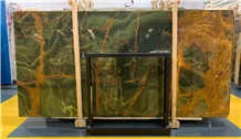 High Quality Natural Dark Green Onyx Slabs Tiles