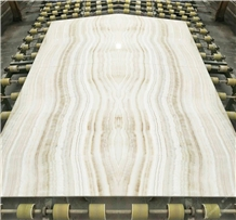Natural White Tiger Onyx Book Match Slabs Tiles