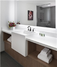 White Acrylic Solid Surface Hotel Bath Wash Basins