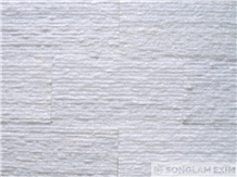 Crystal White Line Chiseled Wall Panel