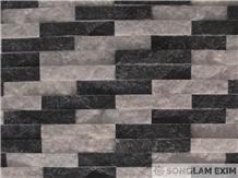 Mix Black&White Marble Split Face Wall Panel