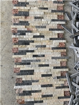 Mixed Color Marble Wall Panel,, Stone Veneer