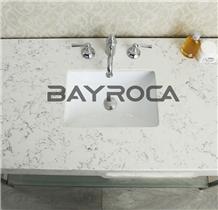 Match Bianco Carrara White Quartz Bath Tops