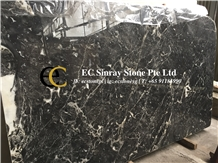 China Hilton Grey Black Marble Slabs & Tiles
