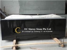 China Mongolia Black Granite Slabs & Tiles