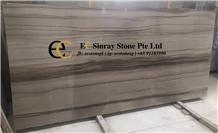 China Vienna Wood Grain Brown Marble Slabs Tiles
