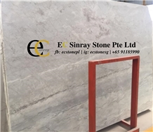 French Blue Savoy Light Grey Marble Slabs & Tiles