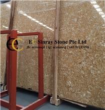 Honey Moon Shell Beige Limestone Slabs Tiles