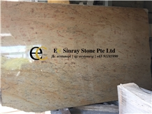 India New Colonial Gold Yellow Granite Slabs Tiles