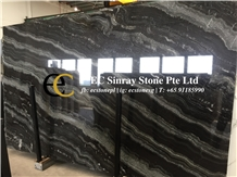 Nero Colonnata Imperiale Black Marble Slabs Tiles