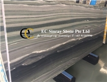 Striato Platinum Wooden Grey Marble Slabs Tiles
