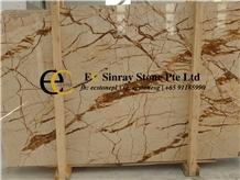 Turkey Golden Crystal Sofita Marble Slabs Tiles
