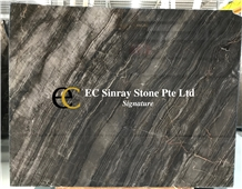 Turkey Oriental Silver Wave Marble Slabs & Tiles