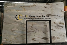 Turkey Pansy Green Blue Marble Slabs & Tiles
