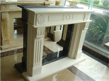 Beautiful Indoor Marble Fireplace Western Style