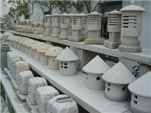 High Quality Natural Granite Lantern and Lamp