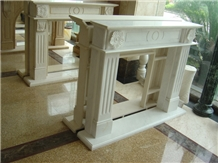Interior Decor Hand Carved Limestone Fireplace