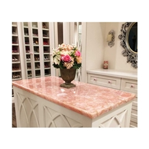 Pink Crystal Semi-Precious Stone Table Slabs