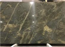 Golden Lightning Granite, Golden Moss Granite, Verde Karzai Granite Slabs, Tiles