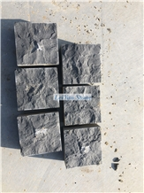 Black Basalt Cube&Paver,Cobble,Natural Split,Riven