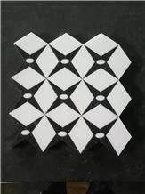 New Design Waterjet Marble Mosaic Tile, Mosaic Pattern