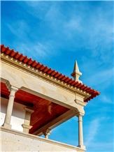 Granite Pilar Balaustre Colunas Pilares, Granito Amarelo Ponte De Lima Columns