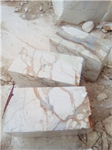 Calacatta Gold Italian Marble Blocks from Quarry
