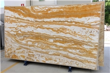 Onice/Onyx Alabaster Orange Polished Slabs