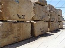 Golden Brown Limestone Blocks