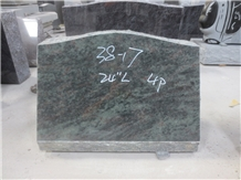 Tropical Green Granite Upright Headstone 01