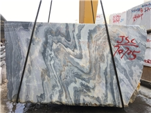 Colorful Moonet Sky Marble Blocks from Quarry