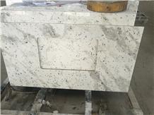 Andromeda White Granite Bath Tops Vanity Bathroom