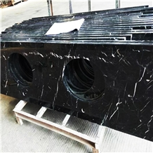 Black Marble Countertops with White Veins