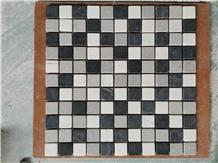Black, White, Grey Marble Bathroom Mosaic Tiles