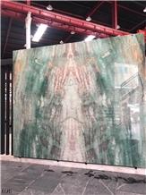 Brazil Royal Green Marble Slab Tiles Book Match
