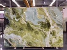 Brazil Sky Blue Marble Slab Wall Floor Tiles Use